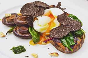 Black truffle egg salad